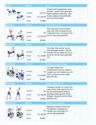 fitness schema afvallen voor thuis